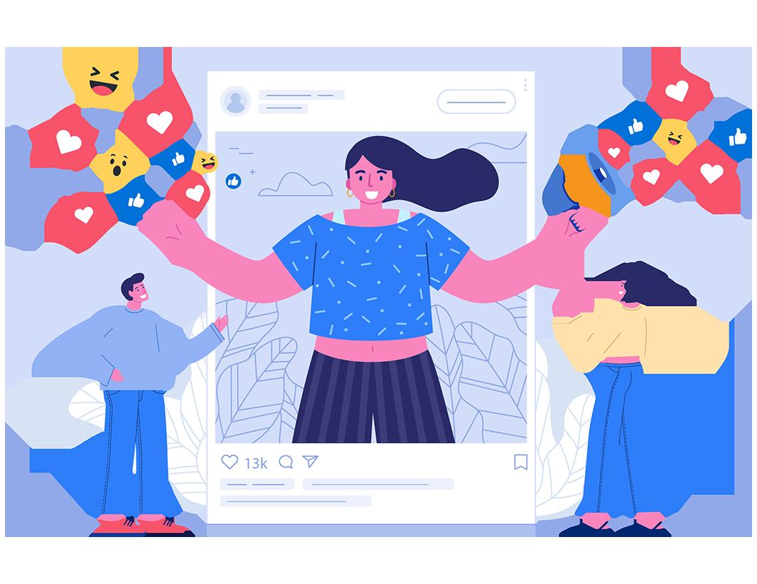 administrare pagina facebook social media instagram conturi tik tok