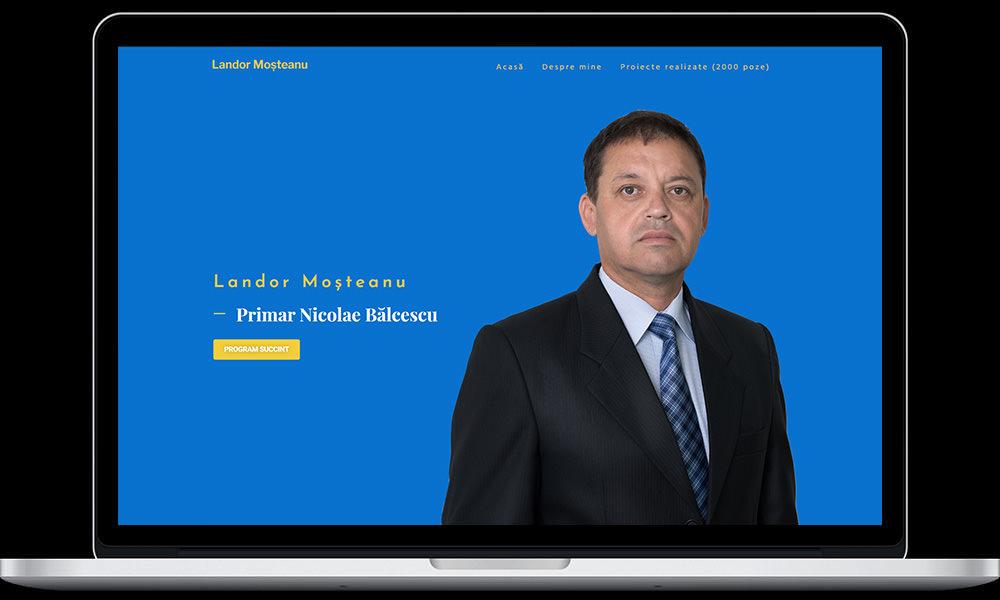 creare site politica politician primar primarie nicolae balcescu valcea pnl